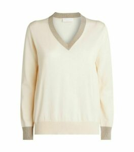 Fabiana Filippi Glitter-Trim Sweater