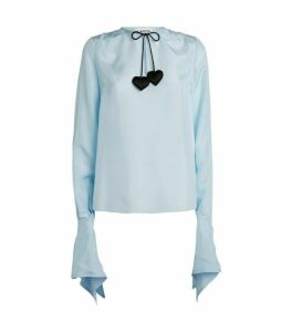 LANVIN Silk Tie-Neck Blouse