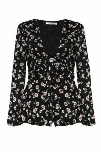 Womens **Printed Playsuit By Glamorous - Black, Black