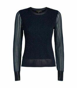 Rag & Bone Rower Glitter Knit Sweater