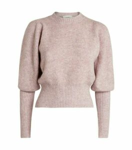 MUNTHE Balloon-Sleeve Jab Sweater