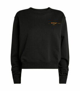 Off-White Embroidered Corals Sweatshirt