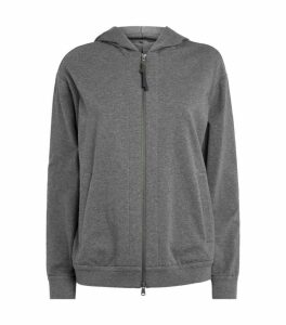Brunello Cucinelli Cotton-Stretch Hoodie