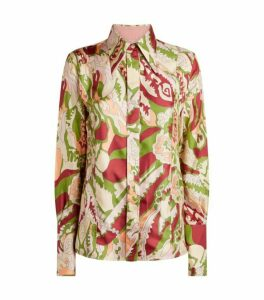Victoria Beckham Silk Patterned Shirt