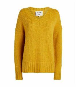 RE/DONE Oversized V-Neck Sweater