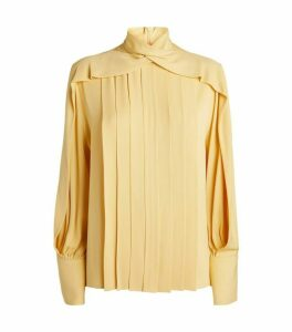 The Row Silk Gilia Pleated Blouse