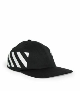 Off-White Diagonal Print Baseball Hat