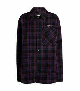 Off-White Oversized Flannel Check Shirt