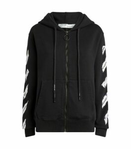 Off-White Airport Tape Zip-Up Hoodie