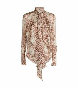 Petar Petrov Carly Printed Pussybow Blouse