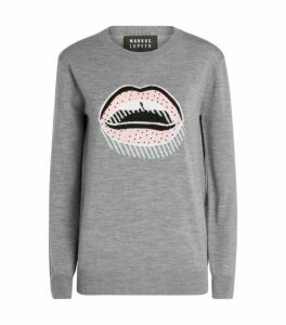 Markus Lupfer Natalie Sequin Lip Sweater