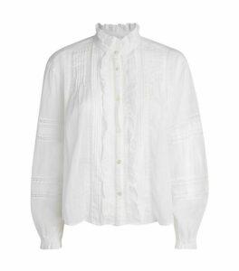 Isabel Marant Étoile Cotton Valda Ruffle Shirt