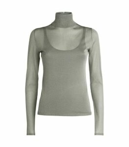 Max Mara Metallic Rollneck Sweater