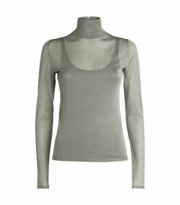 Max Mara Metallic Rollneck Sweater