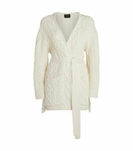 Mother Of Pearl Willow Cable-Knit Tassel Cardigan