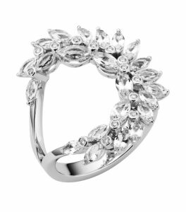 Atelier Swarovski x Penelope Cruz White Gold, Lab-grown Diamond and Topaz Luna Ring