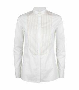 Paule Ka Stretch-Cotton Panelled Shirt