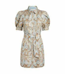 Sandro Paris Brocade Shirt Dress