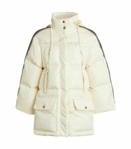 Gucci Hooded Logo Padded Down Jacket