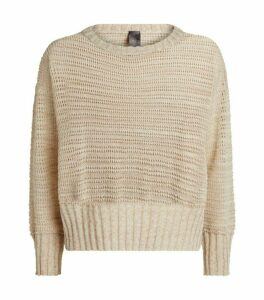 Lorena Antoniazzi Sequin-Embellished Open-Knit Sweater