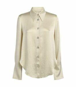 Nanushka Mandine Satin-Style Shirt