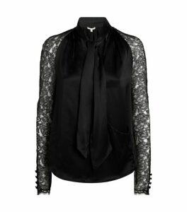 Jonathan Simkhai Silk Lace Blouse