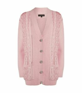 Izaak Azanei Embellished Wool Cardigan