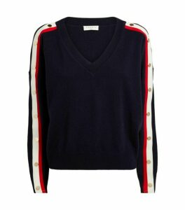 Sandro Paris Striped-Sleeve Sweater