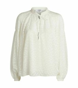 FRAME Long-Sleeved Peasant Top