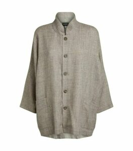 Eskandar Sloped Shoulder Cardigan