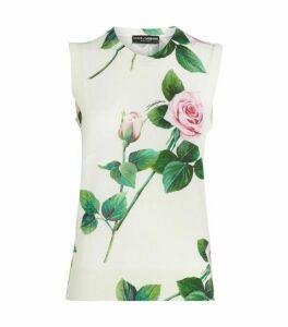 Dolce & Gabbana Tropical Rose Tank Top