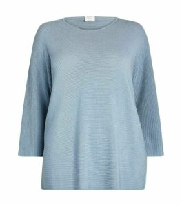 Marina Rinaldi Metallic Ribbed Sweater