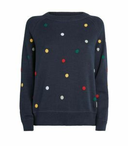 Barbour Polka-Dot Knit Sweater