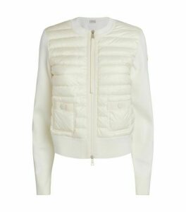 Moncler High-Neck Padded Cardigan