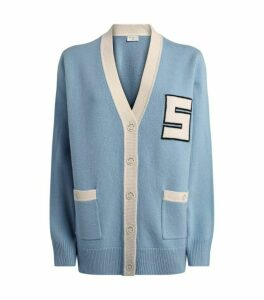 Sandro Paris Knit Varsity Cardigan