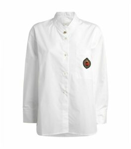 Sandro Paris Embroidered Patch Shirt