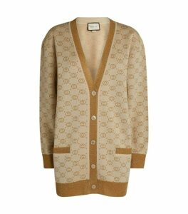 Gucci Interlocking G Intarsia Oversized Cardigan
