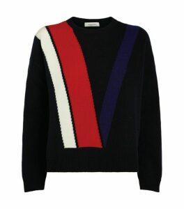 Valentino Intarsia Cashmere-Blend Sweater