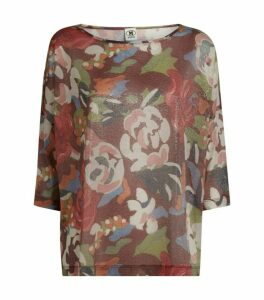 M Missoni Metallic Floral Print Top