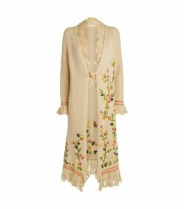 LoveShackFancy Valencia Embroidered Duster Cardigan