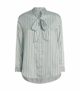 Claudie Pierlot Stripe Pussybow Shirt