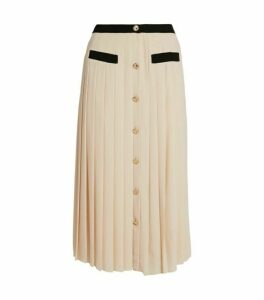 Claudie Pierlot Pleated Midi Skirt