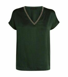 Fabiana Filippi Silk Embellished T-Shirt
