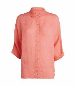 120% Lino Linen Batwing Sleeve Shirt