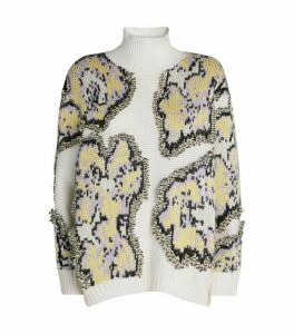 3.1 Phillip Lim Abstract Daisy Sweater