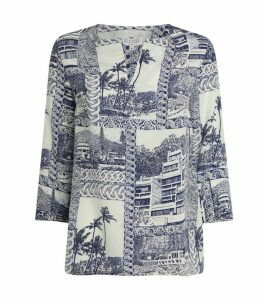 Claudie Pierlot Silk Printed Blouse