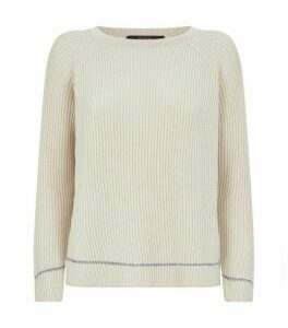 Weekend Max Mara Cotton-Wool Ribbed Sequin Sweater