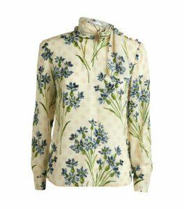 RedValentino Silk Floral Blouse