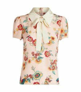 RedValentino Silk Butterfly Blouse