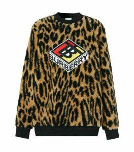 Burberry Leopard Logo Sweatshirt